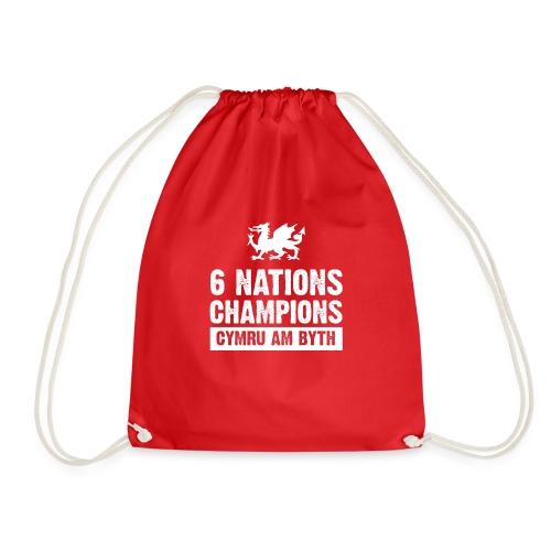 Wales Six Nations Rugby Champions - Drawstring Bag