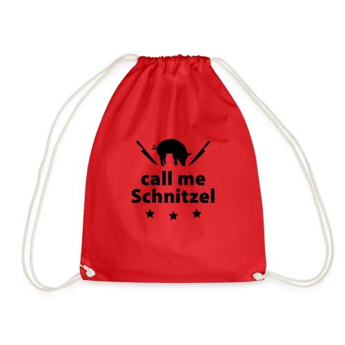 call me Schnitzel Schwein Fleisch Steak Grill Sau - Drawstring Bag
