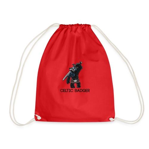 paddybadger png - Drawstring Bag