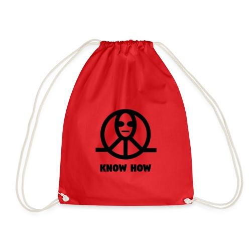 KnowHow Alien Peace Zeichen Symbol - Turnbeutel