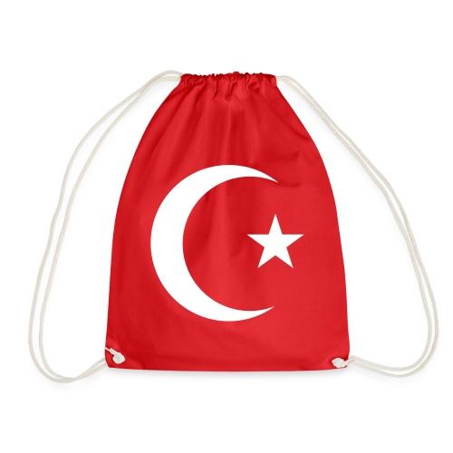 E 0013 Halmmond und Stern Türkei Flagge - Turnbeutel