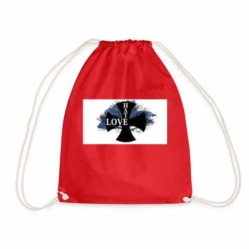 Love hate T SHIRT - Drawstring Bag