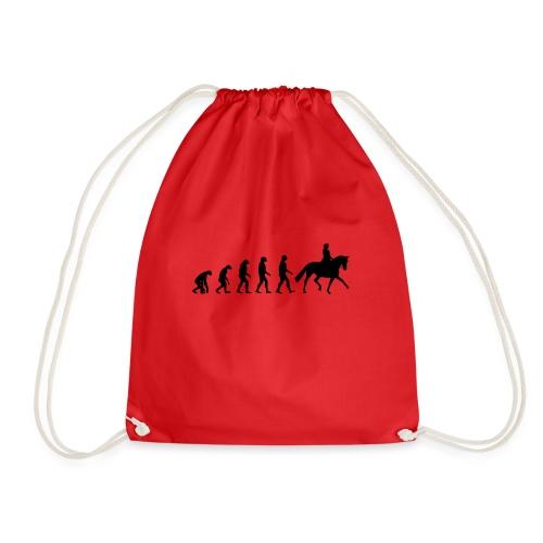Evolution Of A Dressage Rider - Drawstring Bag