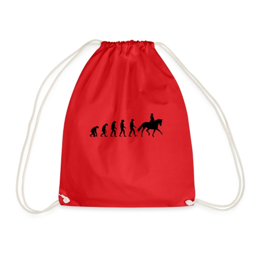Evolution Of A Dressage Rider - Drawstring Bag