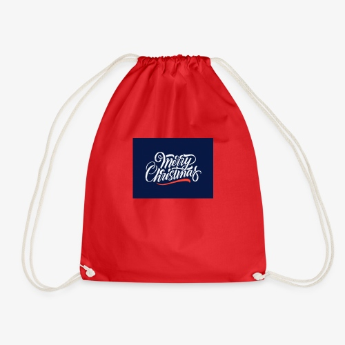 MERRY CHRISTMAS - Drawstring Bag