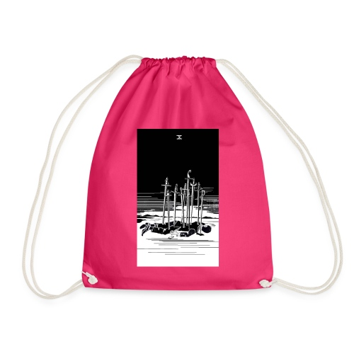 Revenge Capitalism (on color) - Drawstring Bag