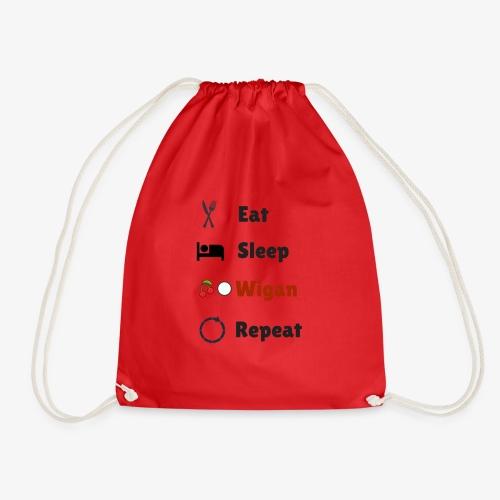 Eat Sleep Wigan Repeat - Drawstring Bag