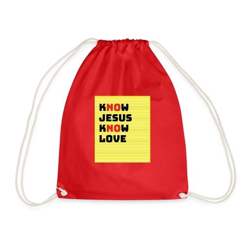 KNOW JESUS KNOW LOVE - NO JESUS NO LOVE - Turnbeutel