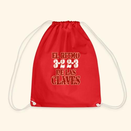 Salsa clave rhythm salsa music dance gift - Drawstring Bag