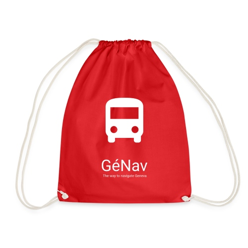 GéNav Logo Blanc - Sac de sport léger