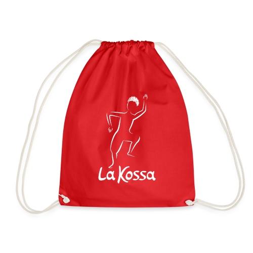 La Kossa - Unser Herz tanzt bunt - Logo weiß - Turnbeutel