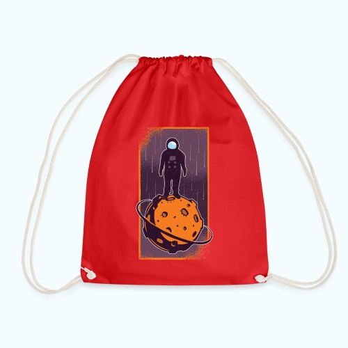 Astronaut vintage drawing - Drawstring Bag