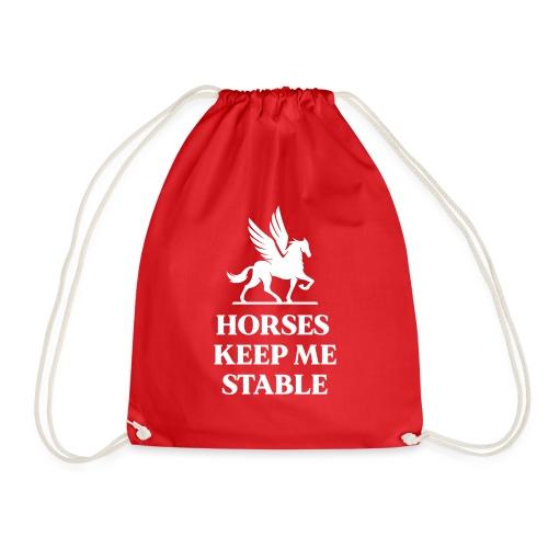 Paarden houden mij stabiel - Gymtas