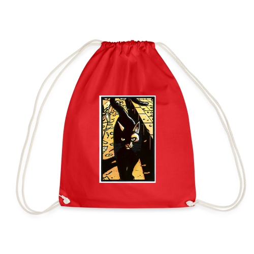 The cat from the Tale of One Bad Rat - Drawstring Bag