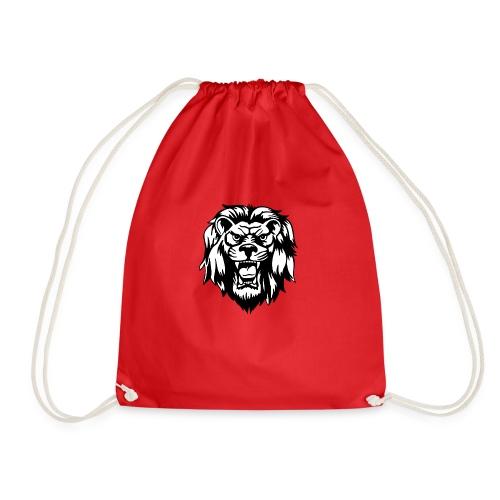 00 lion head black vector - Drawstring Bag
