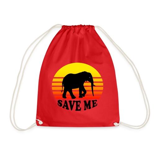 Elefant SAVE ME Schattenriss Sonne - Turnbeutel
