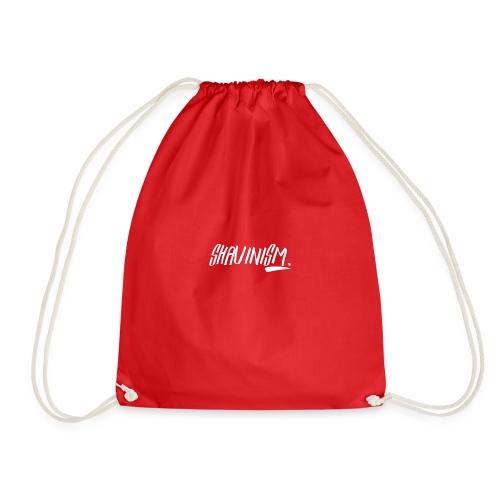 Shavinism logo white - Drawstring Bag