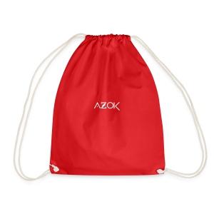 Azok-Esport logo hvit - Drawstring Bag