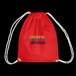 Pride Amsterdam in regenboog kleur en zwart - Gymtas