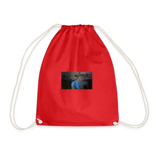 pink lazy hoodie - Drawstring Bag