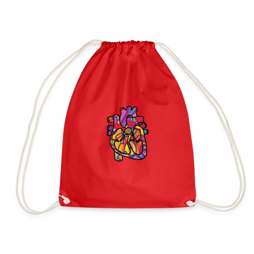 Real Energetic Heart - Drawstring Bag
