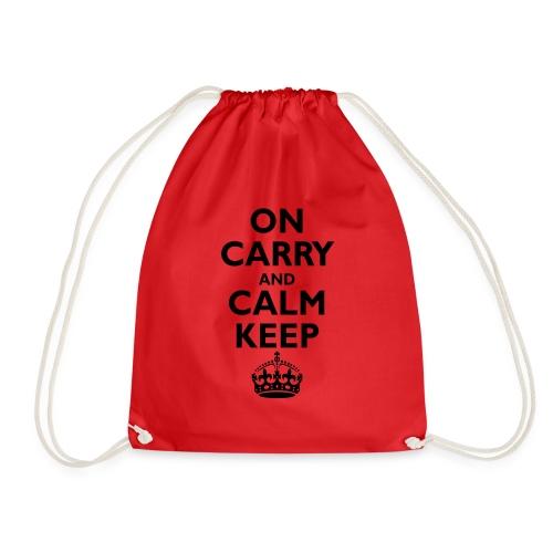 Keep calm upside down - Drawstring Bag