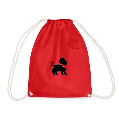 Schnauzer dog - Drawstring Bag