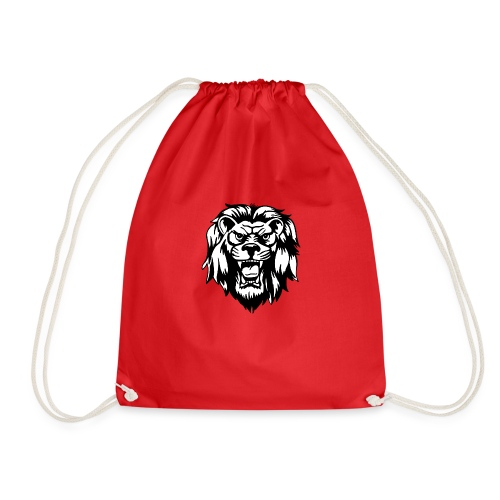 00 lion head black vector - Drawstring Bag