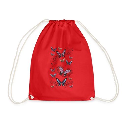 Tattoo de mariposas lilas y rosas - Mochila saco