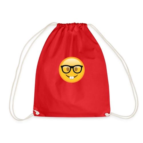 Nerd with Glasses Emoji - Drawstring Bag