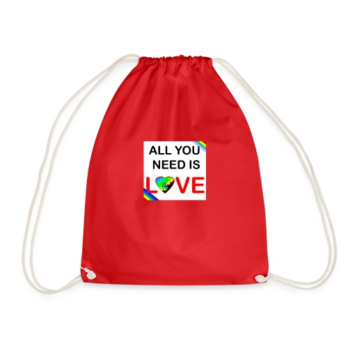 all you need is peace and love - Sac de sport léger
