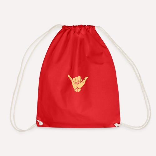Good Vibes Print Design Hand Sign On Demand - Drawstring Bag