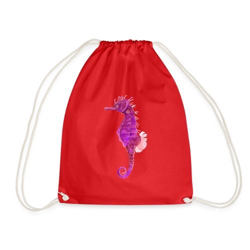 Pinkes Seepferd - Turnbeutel