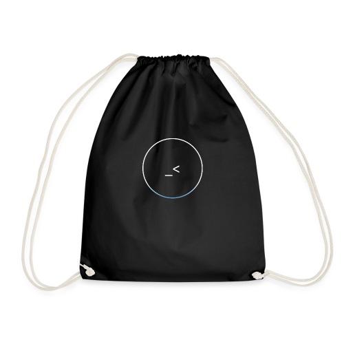 White and white-blue logo - Drawstring Bag