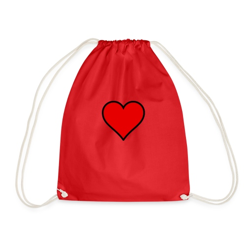 Small heart - Drawstring Bag