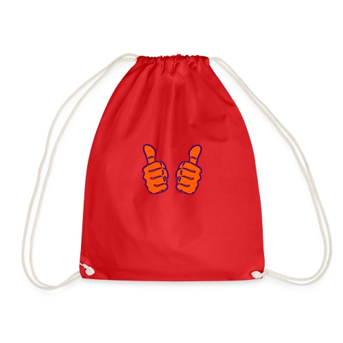 two-thumbs-up - Drawstring Bag