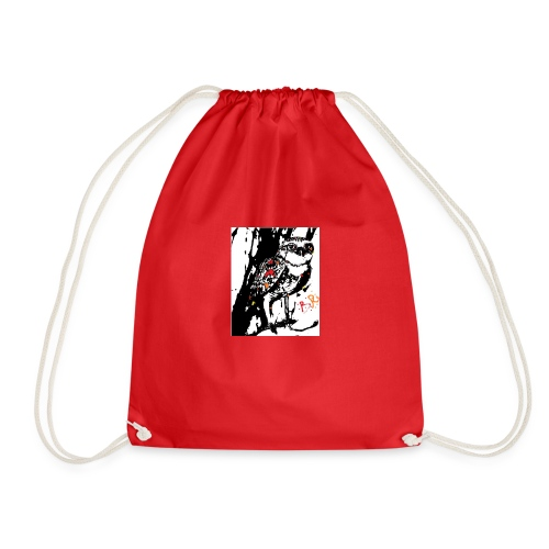 Fire Burrowing Owl with monocle - Drawstring Bag