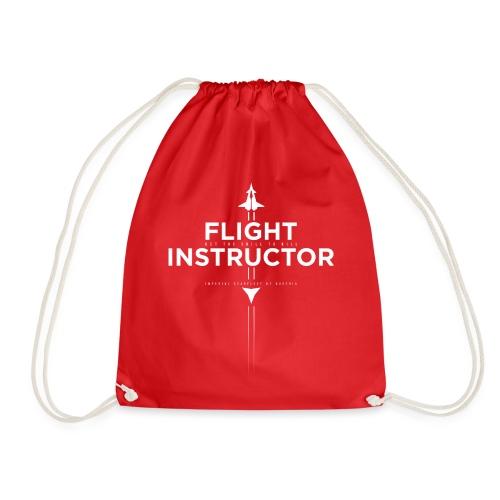 FlightInstructor white - Turnbeutel