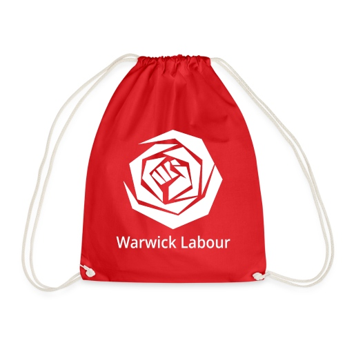 White Logo Merch - Drawstring Bag