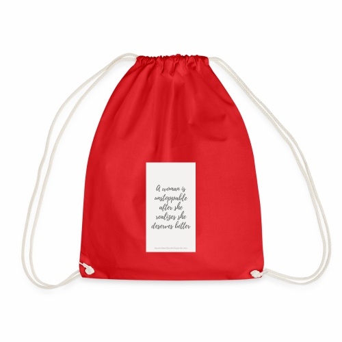 To boost self esteem in women - Drawstring Bag