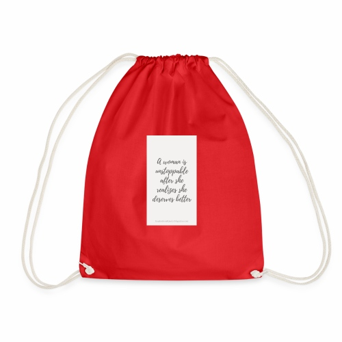 To boost self esteem in women - Drawstring Bag