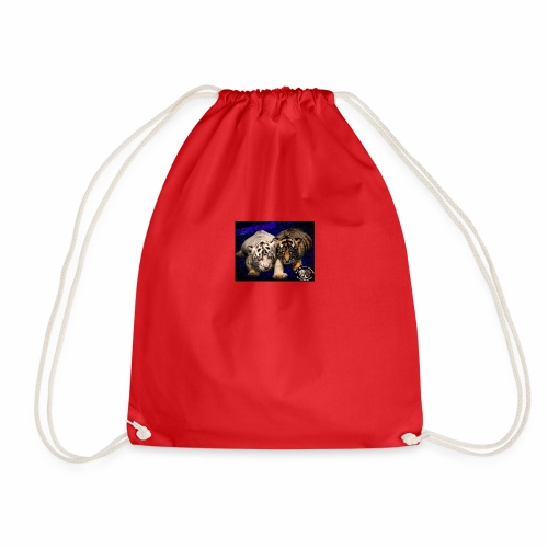 new born tiger cubs - Drawstring Bag