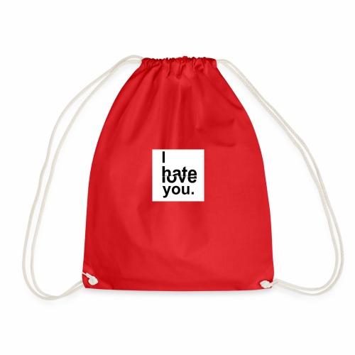 love hate - Drawstring Bag