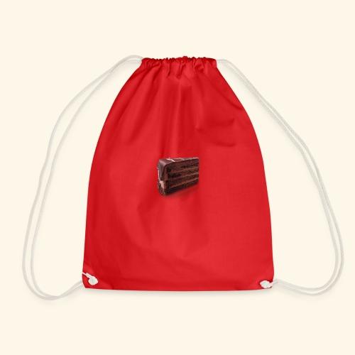 chocolate cake - Drawstring Bag