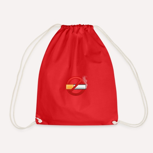 No Smoking Print Design T-shirt And Other Apparel - Drawstring Bag