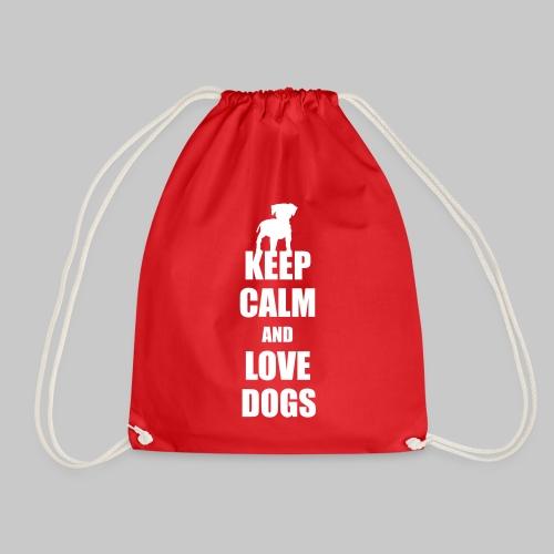 Keep calm love dogs - Turnbeutel