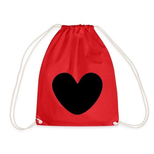 fat black heart - Drawstring Bag