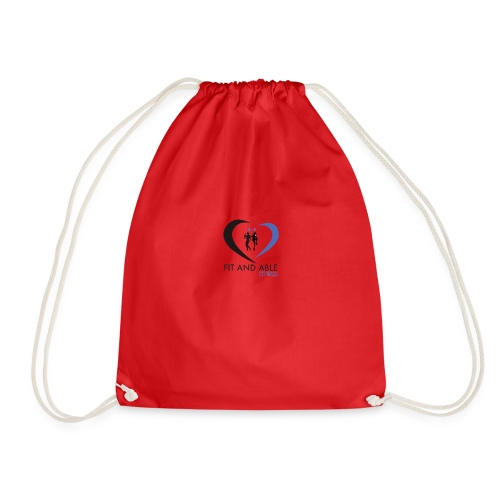 Fit and Able Fitness Logo - Drawstring Bag
