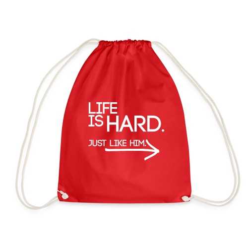 Buried Shirts Life Is Hard White - Drawstring Bag