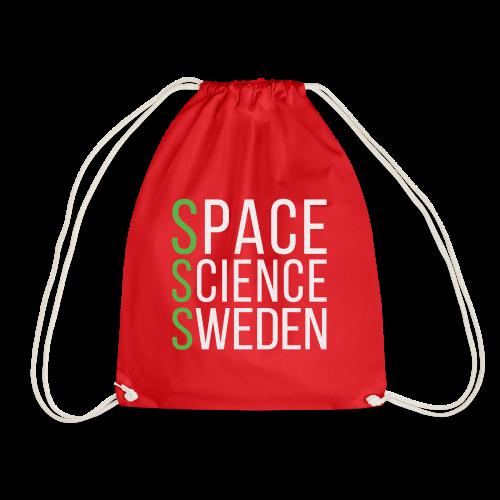 Space Science Sweden - vit - Gymnastikpåse